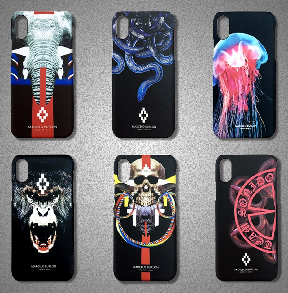 Retail Box Animal Hard Cases For Iphone X Marcelo Burlon Cover ...