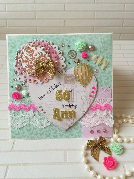 Personalized Birthday Cards Handmade Card 50th Birthday