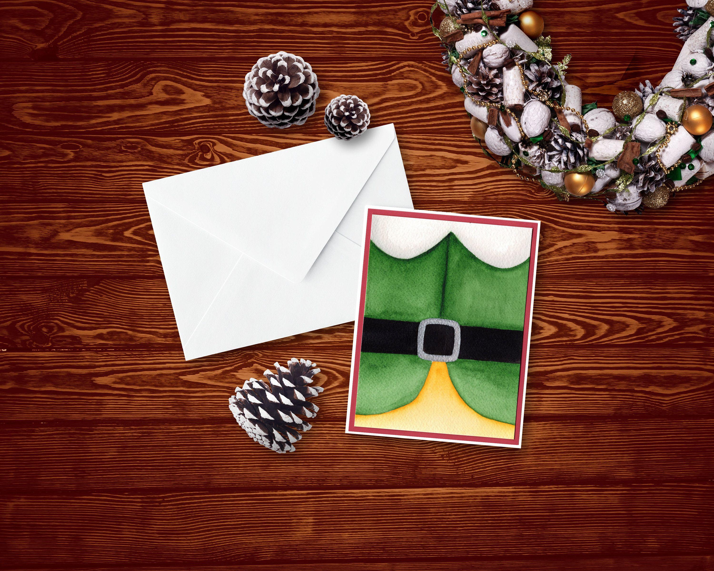 Buddy The Elf Christmas Card  For Holidays  Cute