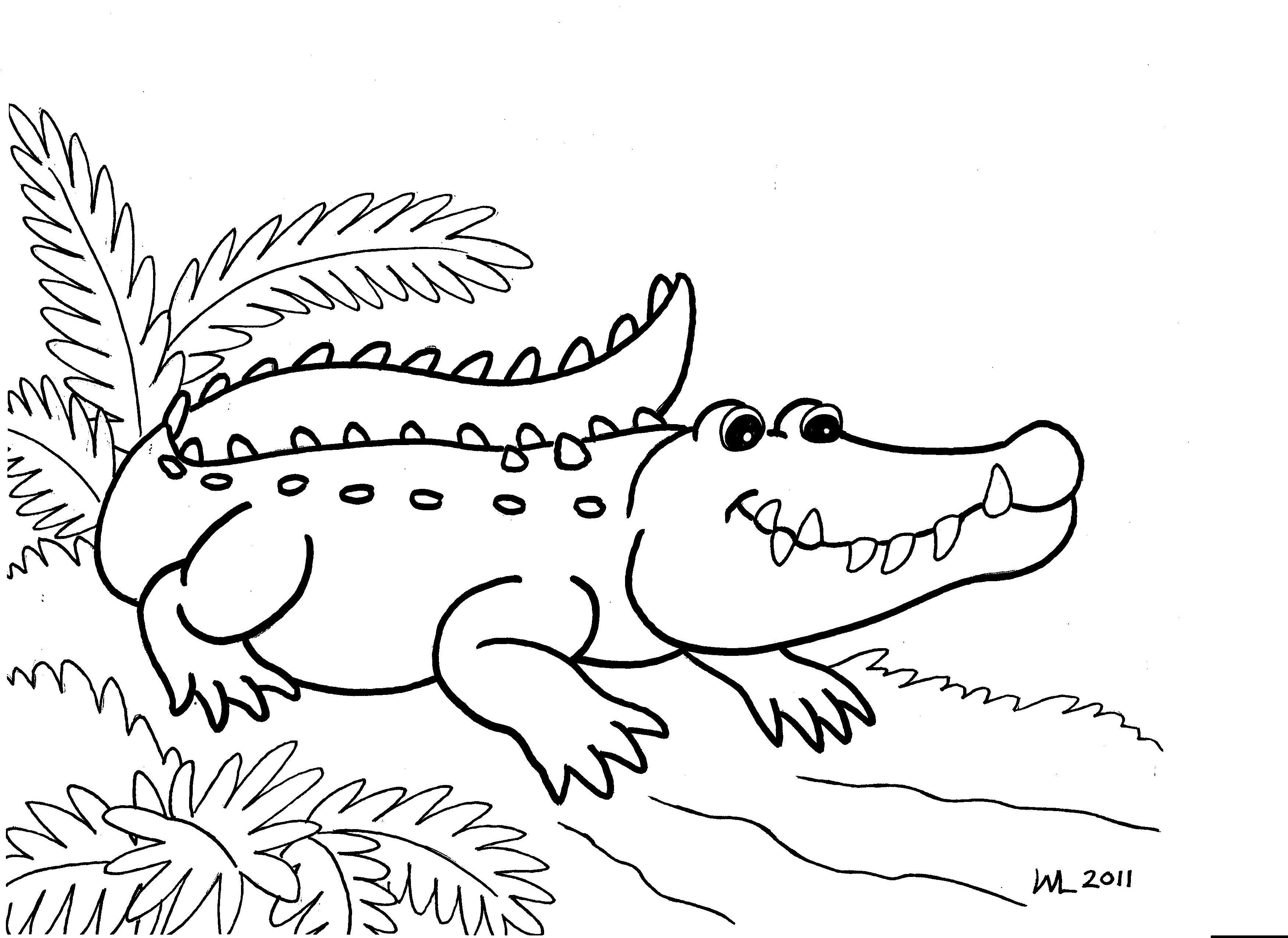 Alligator Coloring Pages To Print Out | Teaching | Pinterest