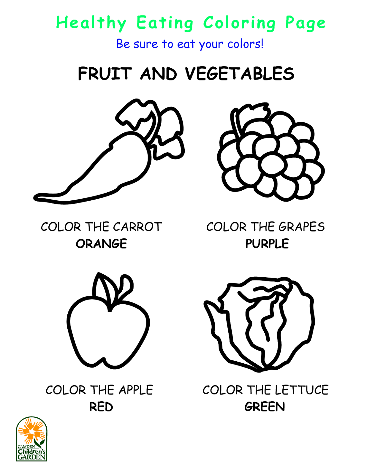 Fruits Veggies Nutrition Oh My