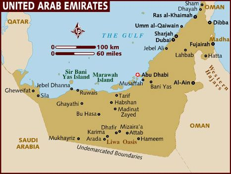 map of united arab emirates cities google search