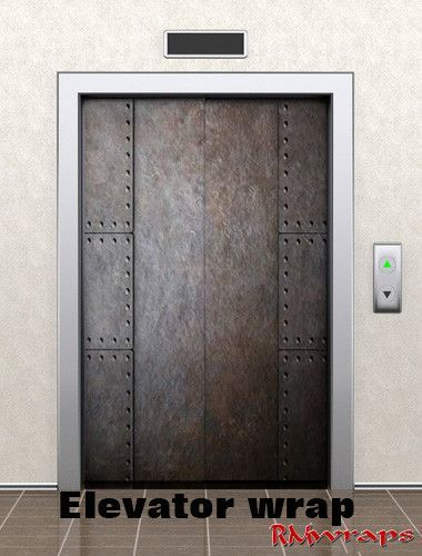 Elevator door wrap metal with old rivets 72720428 Average one door elevator is 84  x 42  Contact Rm wraps Have a question or issue? & Elevator door wrap metal with old rivets 72720428 Average one door ...