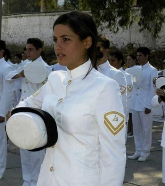 Military women in uniform