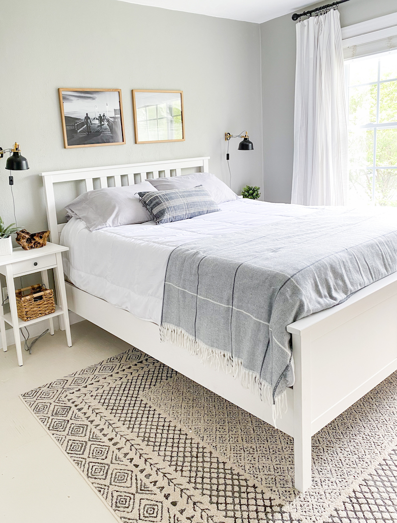 Modern Coastal Bedroom Reveal - Sand and Sisal  Small guest