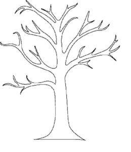 """Раскраска """"Дерево без листьев"""" - скачать и распечатать ..."""