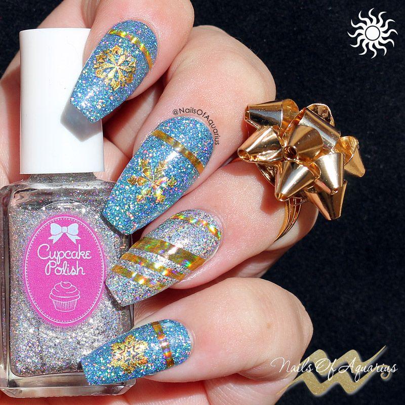 Wrap Me Up In Holo: Christmas Nail Art with Cupcake Polish | Nail ...