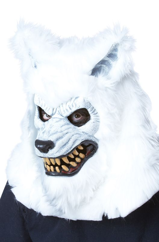 Leave those boring masks behind and opt for a mask that moves its mouth and lips as you do. Bring your costume to life and scare all your friends during the next full moon with this Werewolf Ani-Motion mask in white.<br><br>Item features:<ul><li>One
