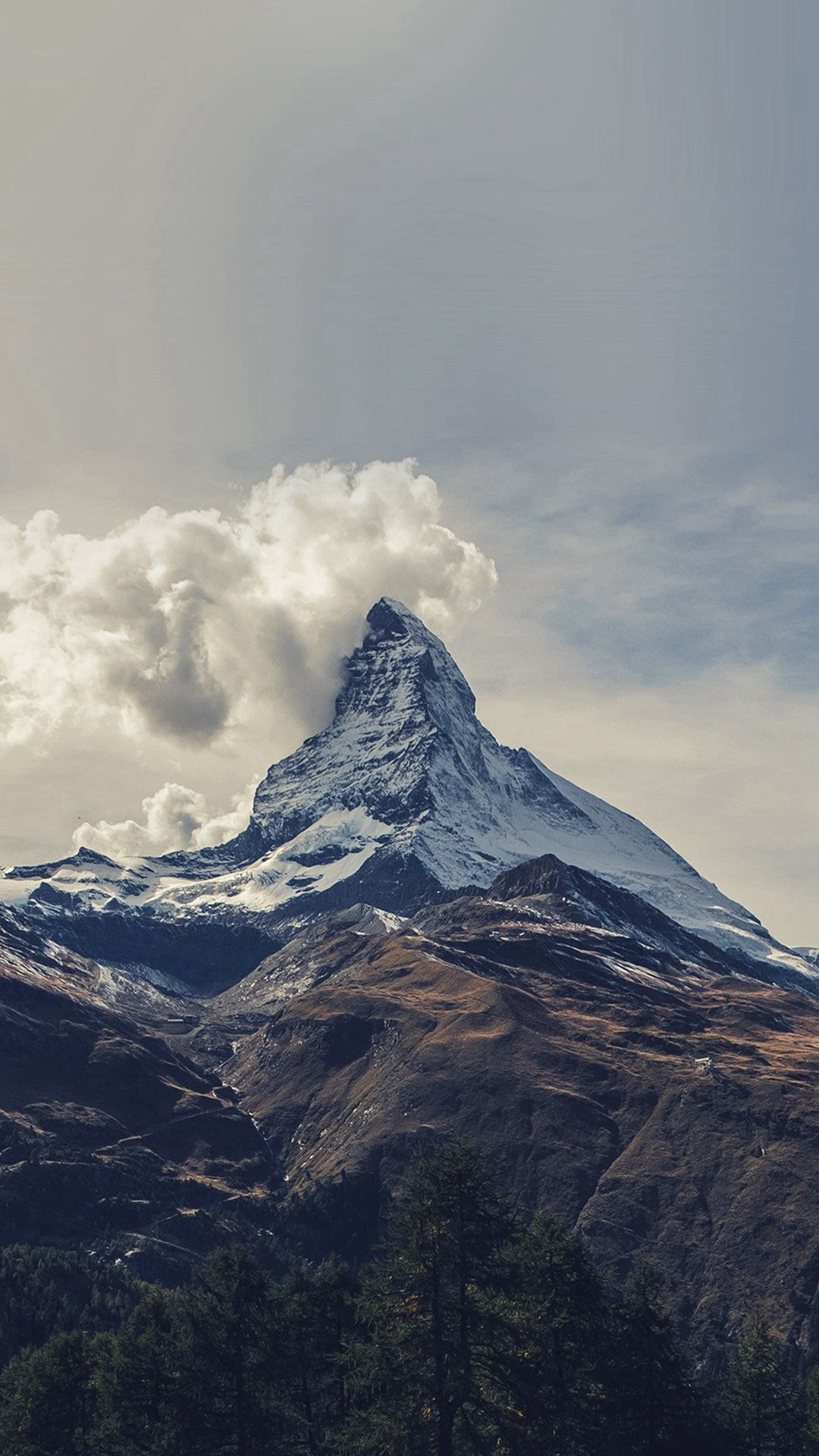 Hd mountain wallpaper iphone photography: Mountain Snow Sky Nature iPhone 6 Wallpaper Download ...