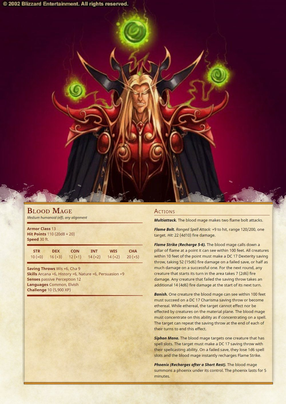Blood Mage | D&D in 2019 | Blood mage, Dnd monsters