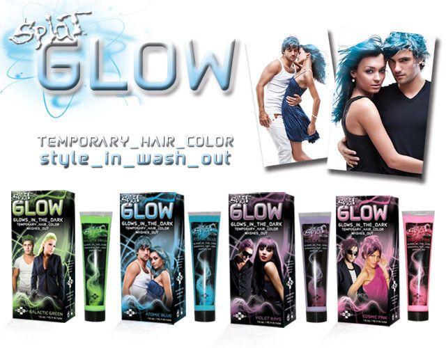 Splat Glow In The Dark Temporary Hair Color Dye Blue Pink Purple
