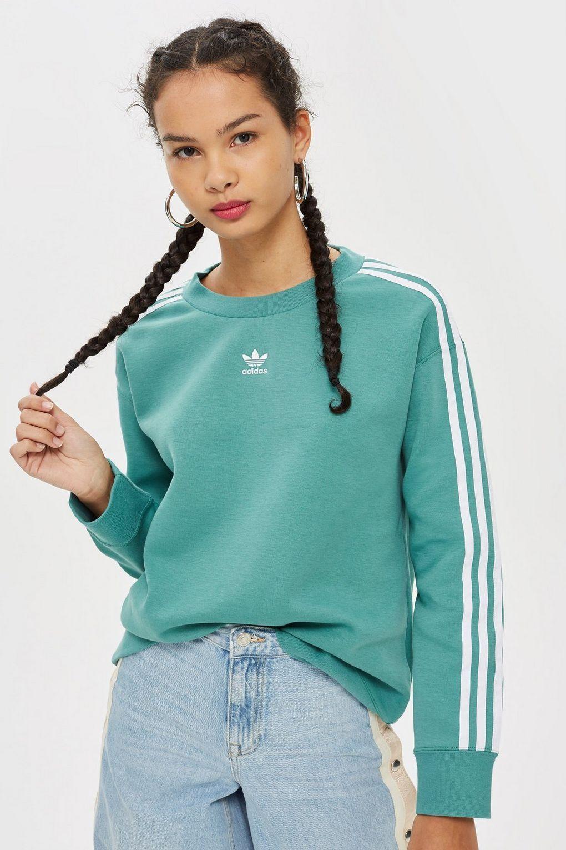 Crew Neck Sweatshirt By Adidas Originals Festival Clothing Topshop Crewneck Sweatshirt Women Crewneck Sweatshirt Outfit Adidas Crew Neck [ 1530 x 1020 Pixel ]