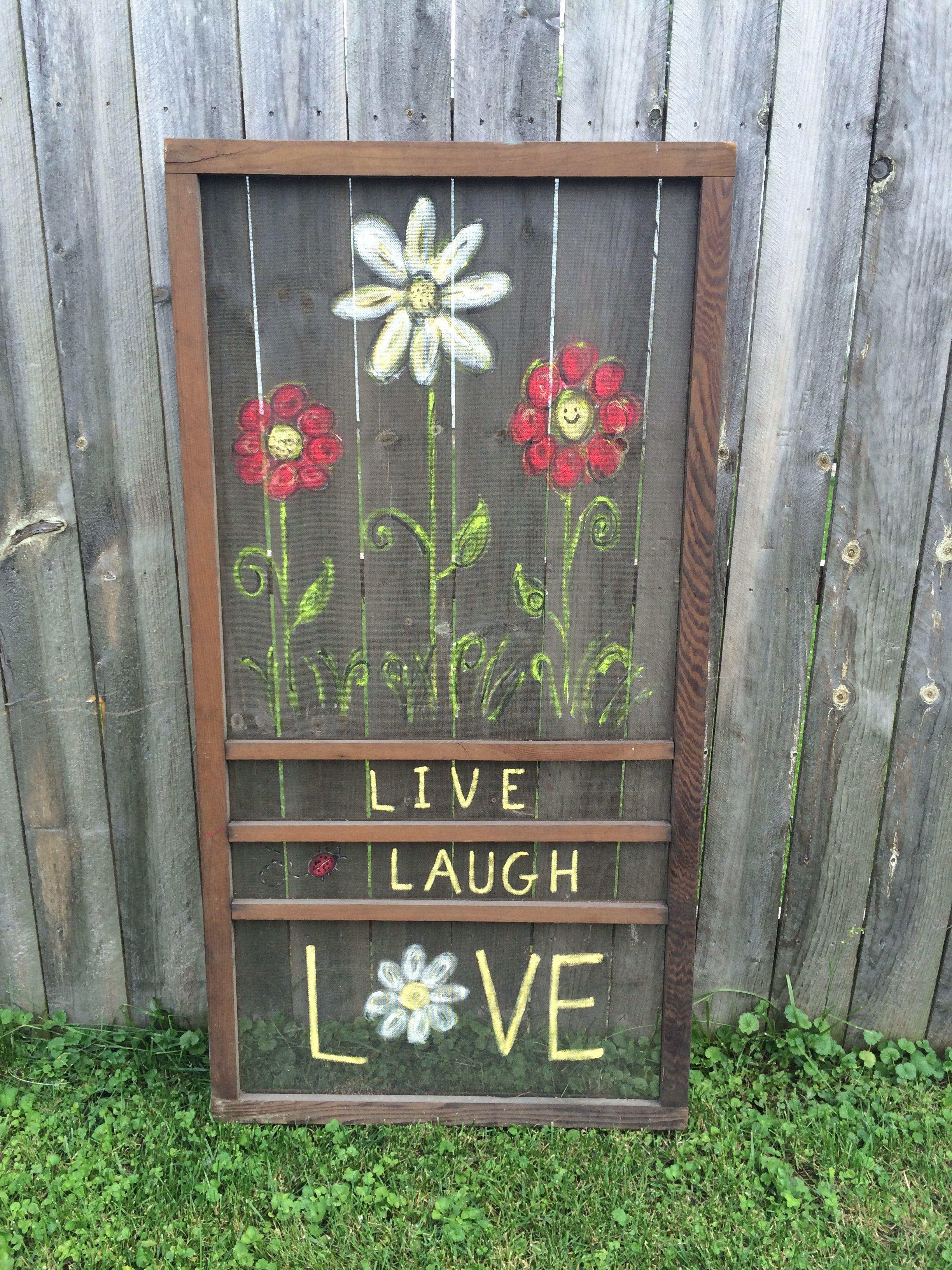 Painted Screen Door Painted Screen Doors Vintage Screen Doors Screen Door Projects