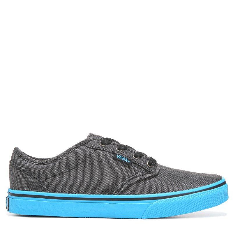 Vans Kids' Atwood Sneaker Pre/Grade School Shoes (Textile Black/Blue)