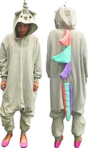 b72138e6e7e8 Pusheen Kigurumi Unicorn Adult Hooded Zip Up One Piece Suit (One ...