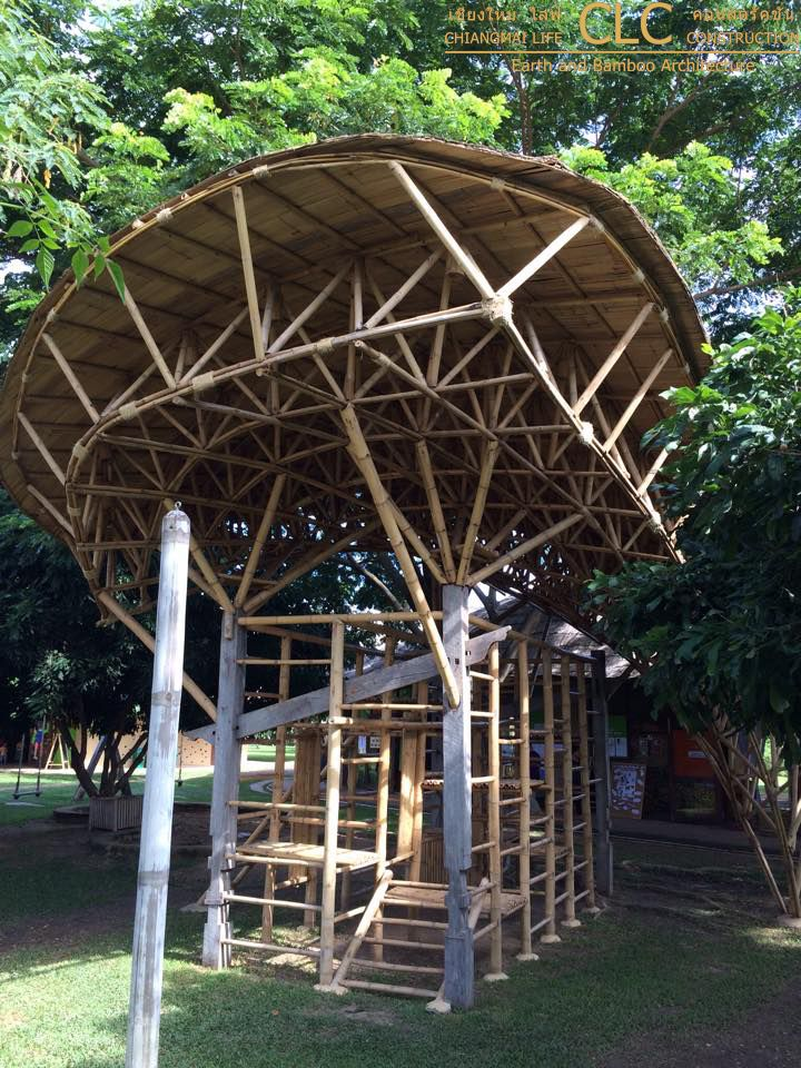 Gazebo Di Bamb.Bamboo Architecture Bamboo Space Frame Playground In 2019