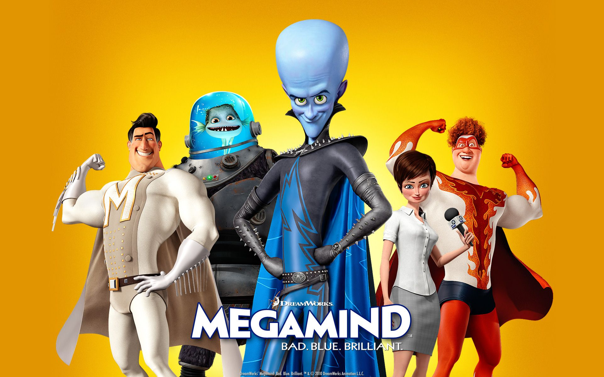 Bad Blue Megamind Wallpapers Hd Wallpapers Family Movies Movies Comedians