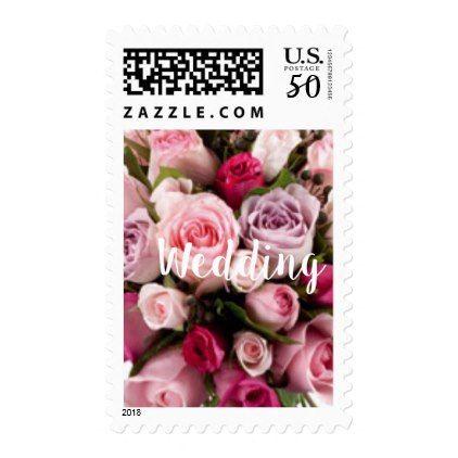 Clic Pink Wedding Rose Design Stamps Elegant Gifts Diy Accessories Ideas