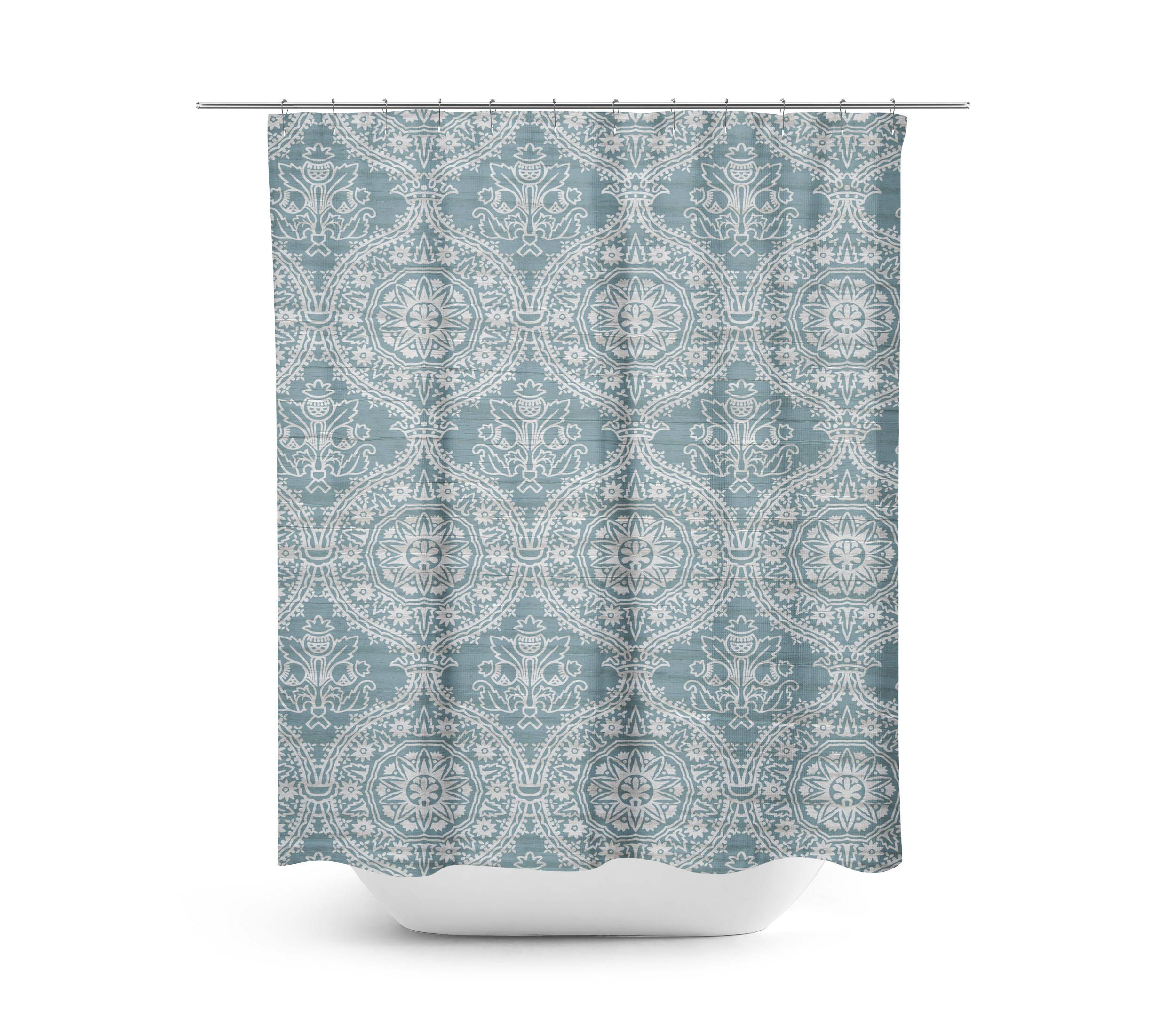 Farmhouse Shower Curtain Spa Blue Shower Curtain Farmhouse