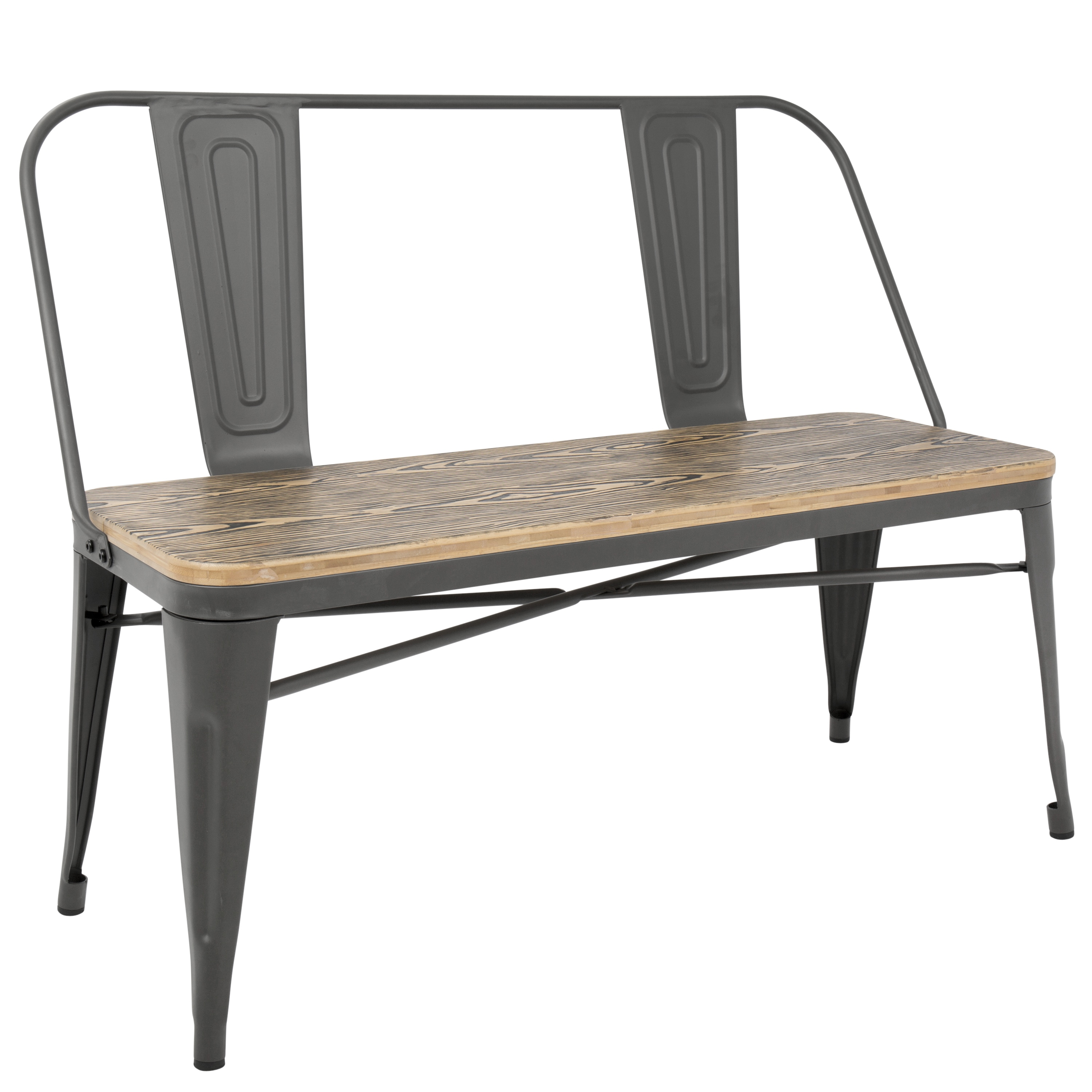 Admirable Carbon Loft Boyer Industrial Metal And Wood Dining Entryway Pabps2019 Chair Design Images Pabps2019Com