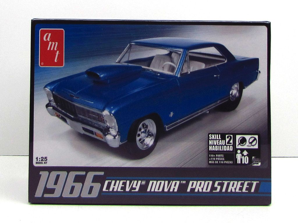 1966 chevy nova pro street amt 636 125 new car model kit