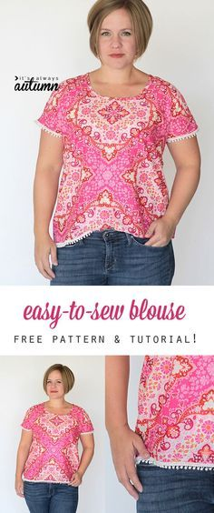 easy-to-sew blouse (a.k.a the breezy tee in a woven | Blouse ...