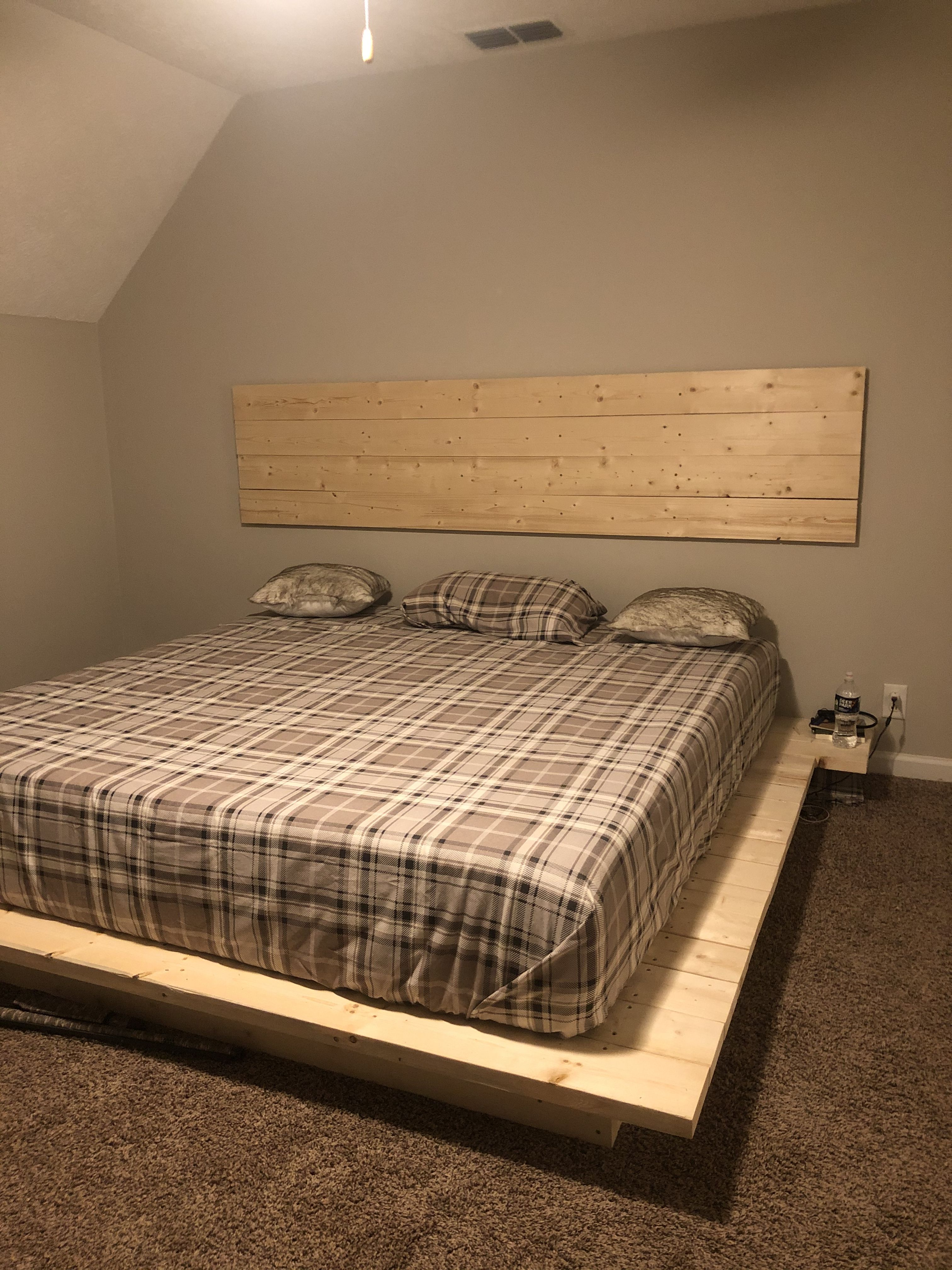 Simple But Beautiful Floating Platform Bed With A Floating