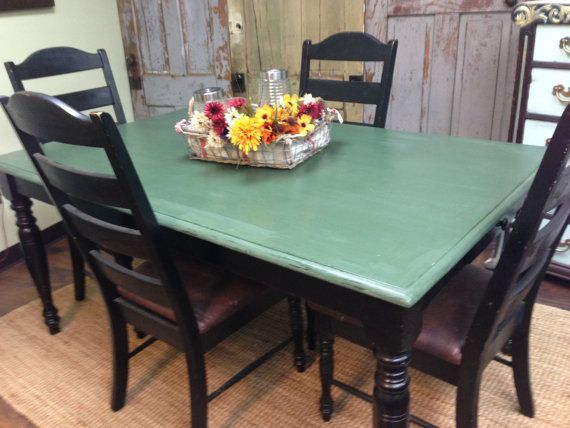 Farm Style Table Country Kitchen Table painted top with