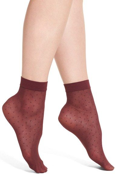 Free shipping and returns on Chelsea28 Sheer Dot Anklet Socks at Nordstrom.com. Tiny dots stipple sheer, lovely anklet socks finished with…
