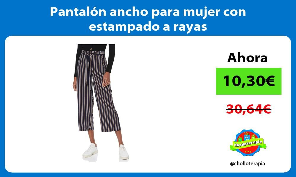 Photo of 🔥 Wide pants for women with striped pattern ✅ See bargain: chollote …