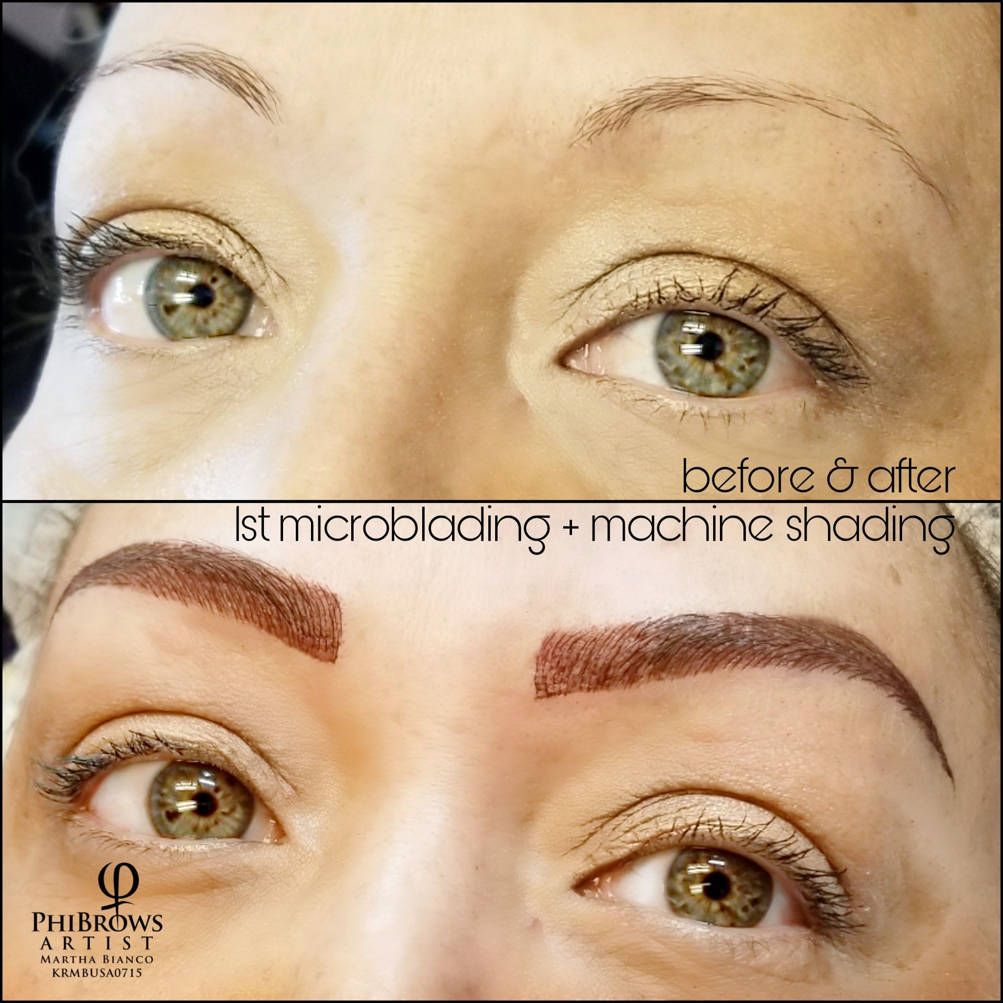 Another Blade & Shade (Microblading + Machine Shading). I