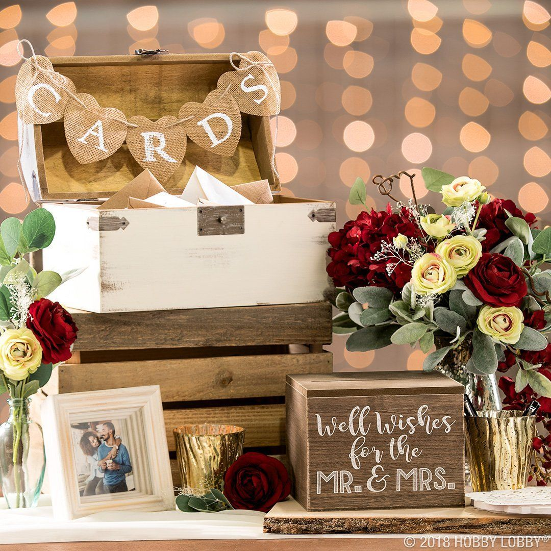 Give Your Guests A Pretty Place To Drop Off Their Gifts And Well Wishes Shop On Trend Cerem Wishing Well Wedding Table Arrangements Wedding Gift Table Wedding
