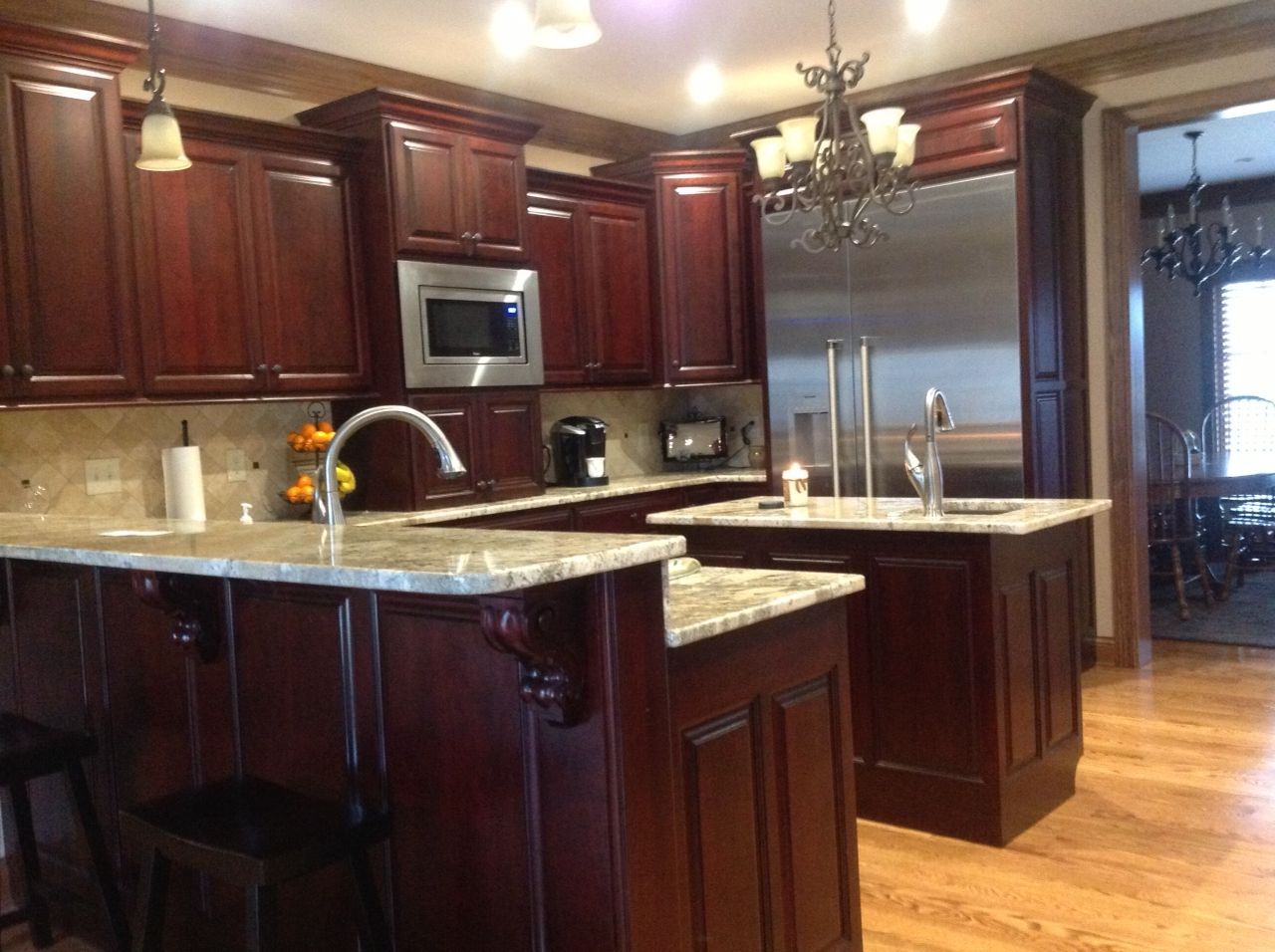 Cherry cabinets home pinterest cherry cabinets kitchens and