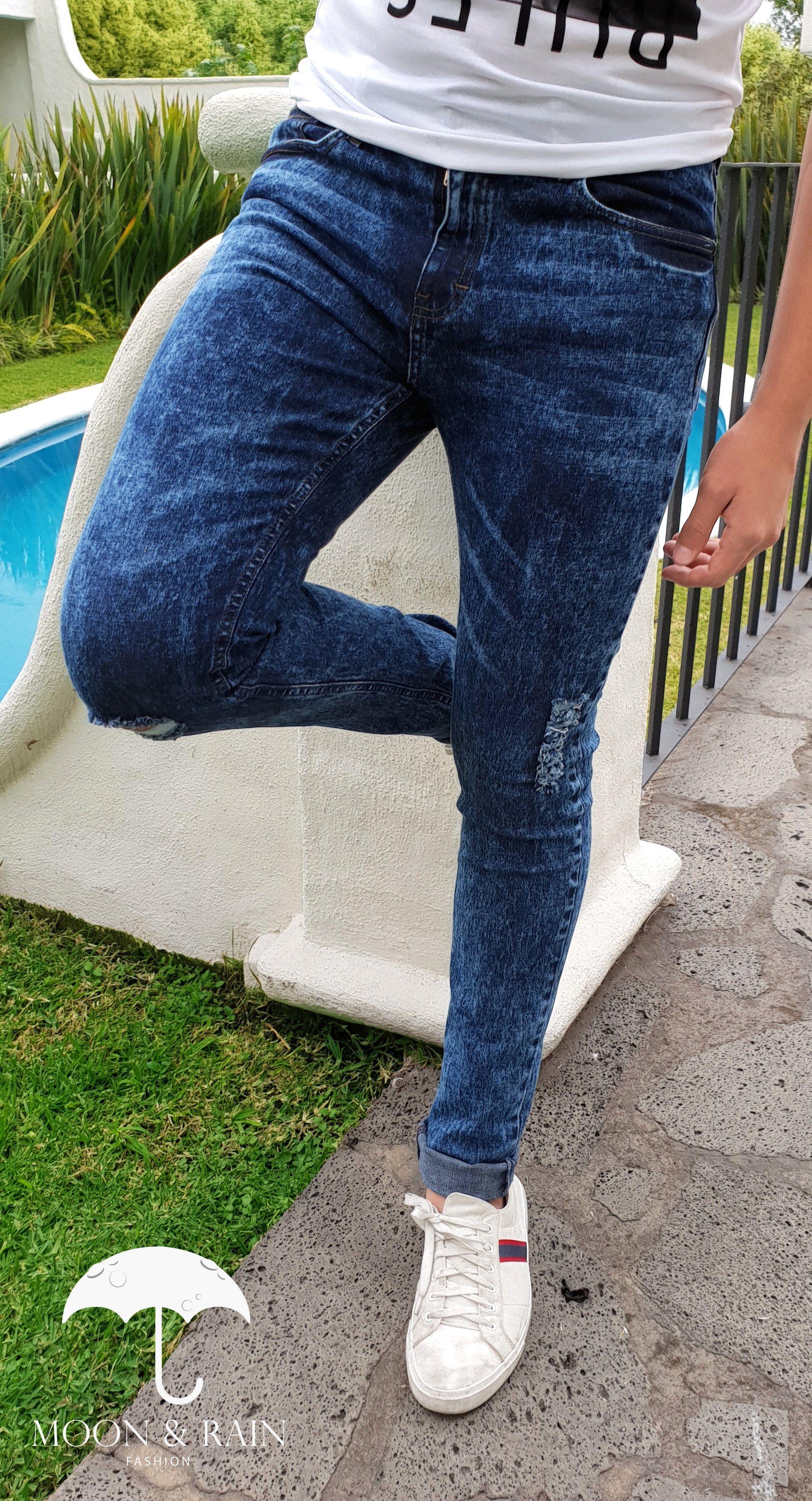 Pantalon De Mezclilla Deslavado Outfit Pantalon De Mezclilla Pantalones De Mezclilla Vestir Elegante Hombre