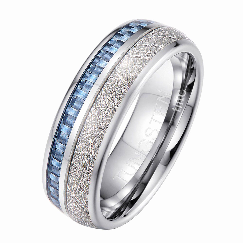 Image result for meteorite wedding bands Tungsten mens