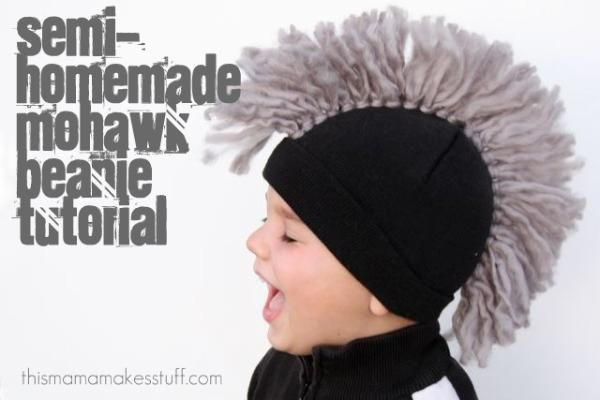 Diy Yarn Crafts Diy Crafts Semi Homemade Mohawk Beanie Tutorial
