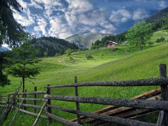Bjeshk t e nemuna national park in kosovo spring highland village highland homes country - Highland park wallpaper ...