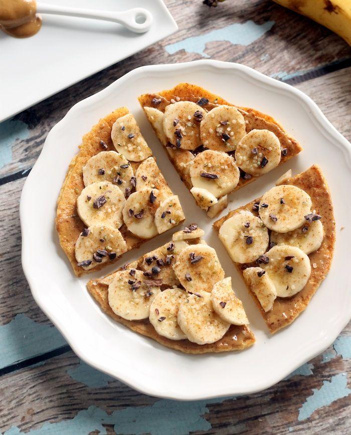 Peanut Butter Banana Breakfast Pizza Vegan Gluten Free Hummusapien Recipe Banana Breakfast Breakfast Pizza Peanut Butter Banana