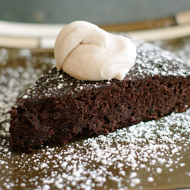 Gluten free choc cake made with black beans