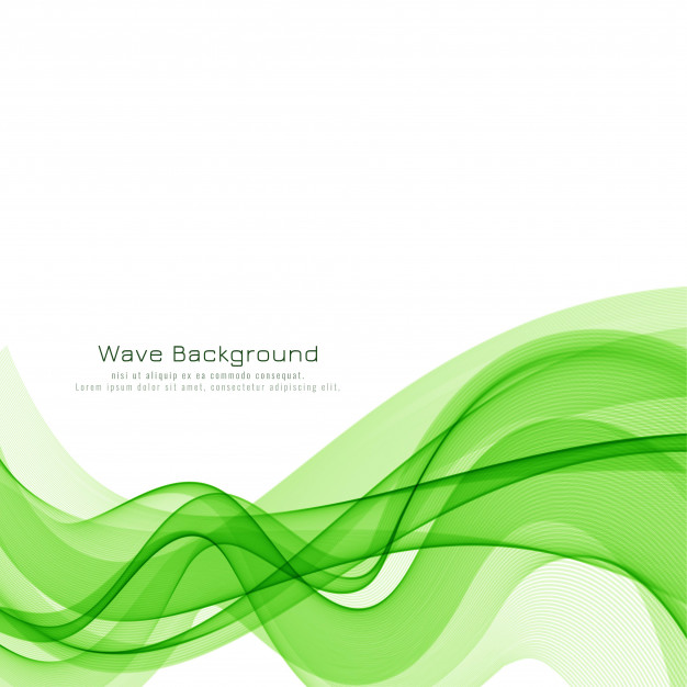 Download Abstract Green Wave Modern Background Design For Free