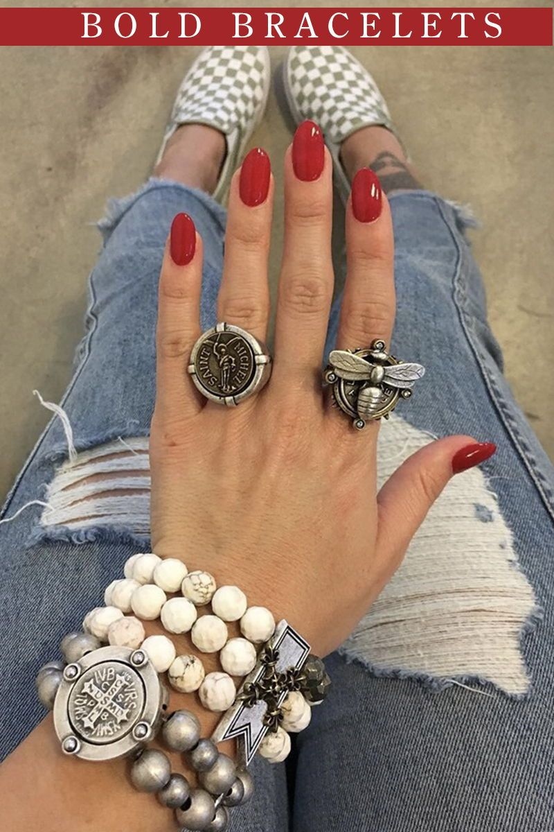 Double Stranded Silver Metal Stone With Mini Saint Benedict Medallion Rhinestone Fashion Jewelry Stores Near Me Sculptural Bracelet