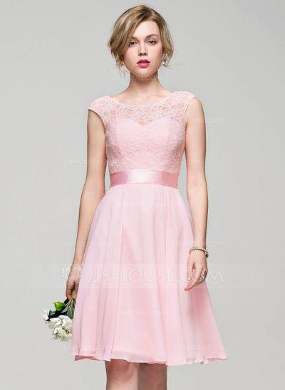 [US$ 113.99] Vestidos princesa/ Formato A Decote redondo Coquetel Vestido de cocktail com Curvado