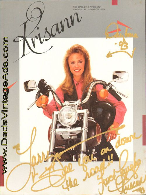 1993 Signed Photo of Ms. Harley-Davidson Krisann Whitley | Vintage