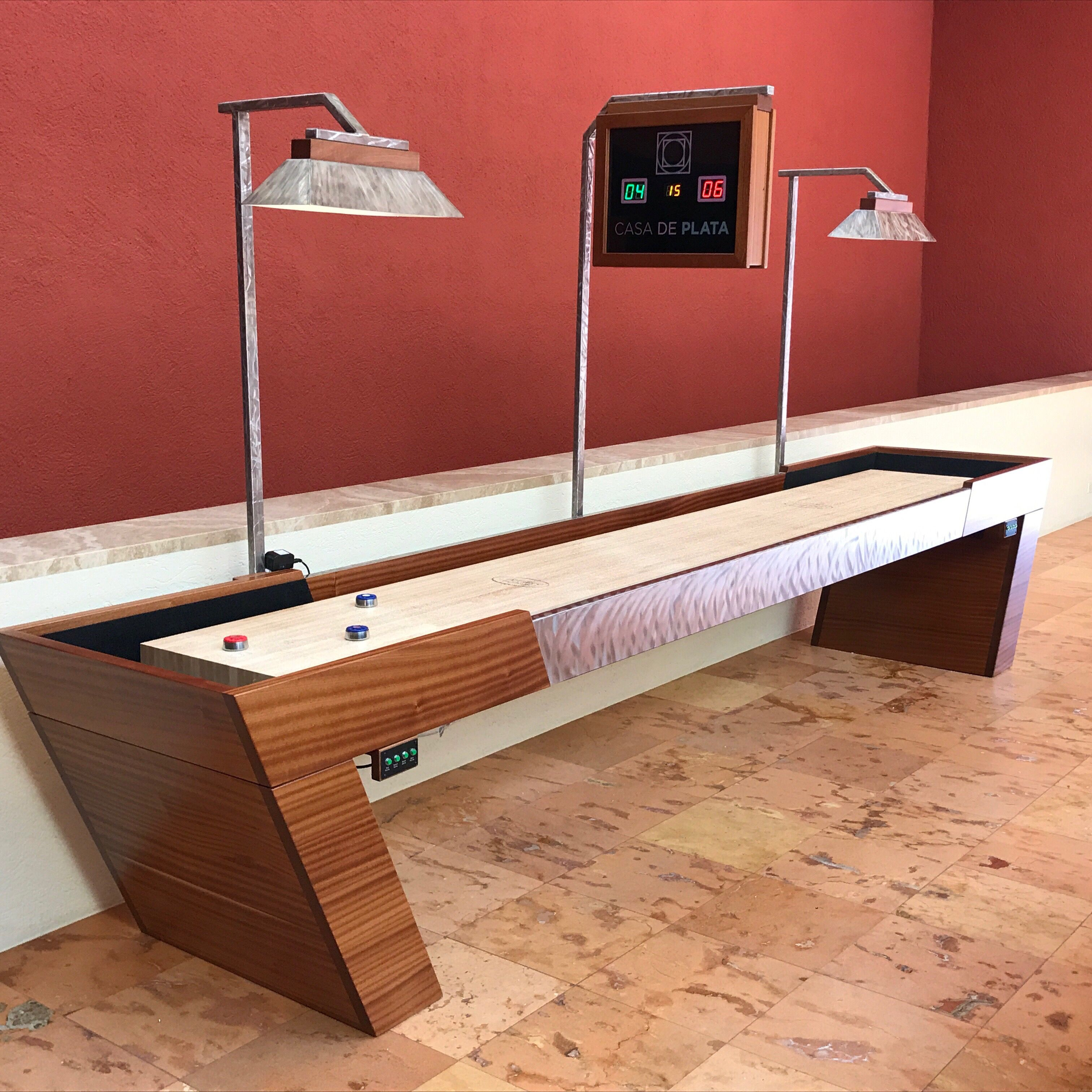 5 foot Galt Shuffleboard Table  McClure Tables  Handcrafted