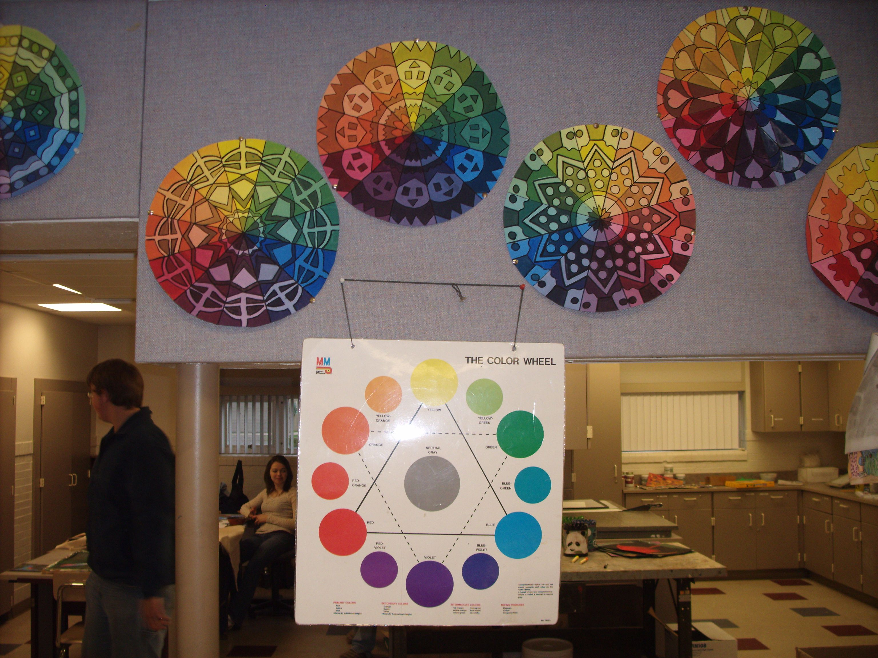 Art I Color Wheel Project 12 Section Mandala Was Created And Each