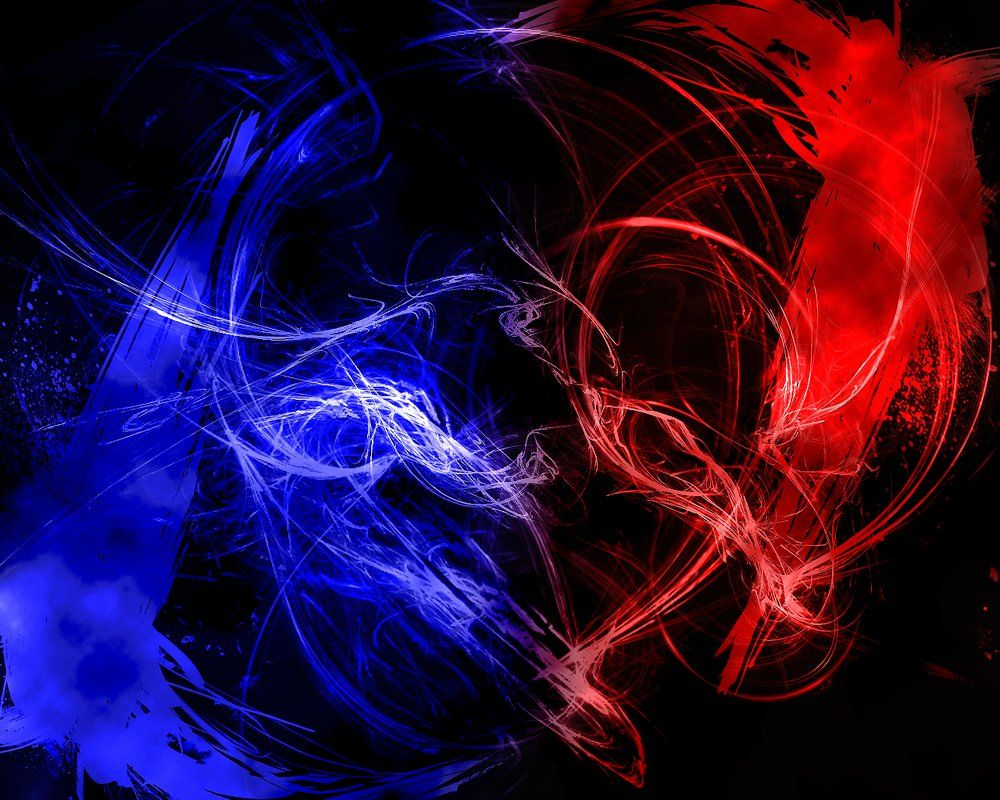 Red Vs Blue Abstract Wallpaper By Br8y16 On Deviantart Red Vs Blue