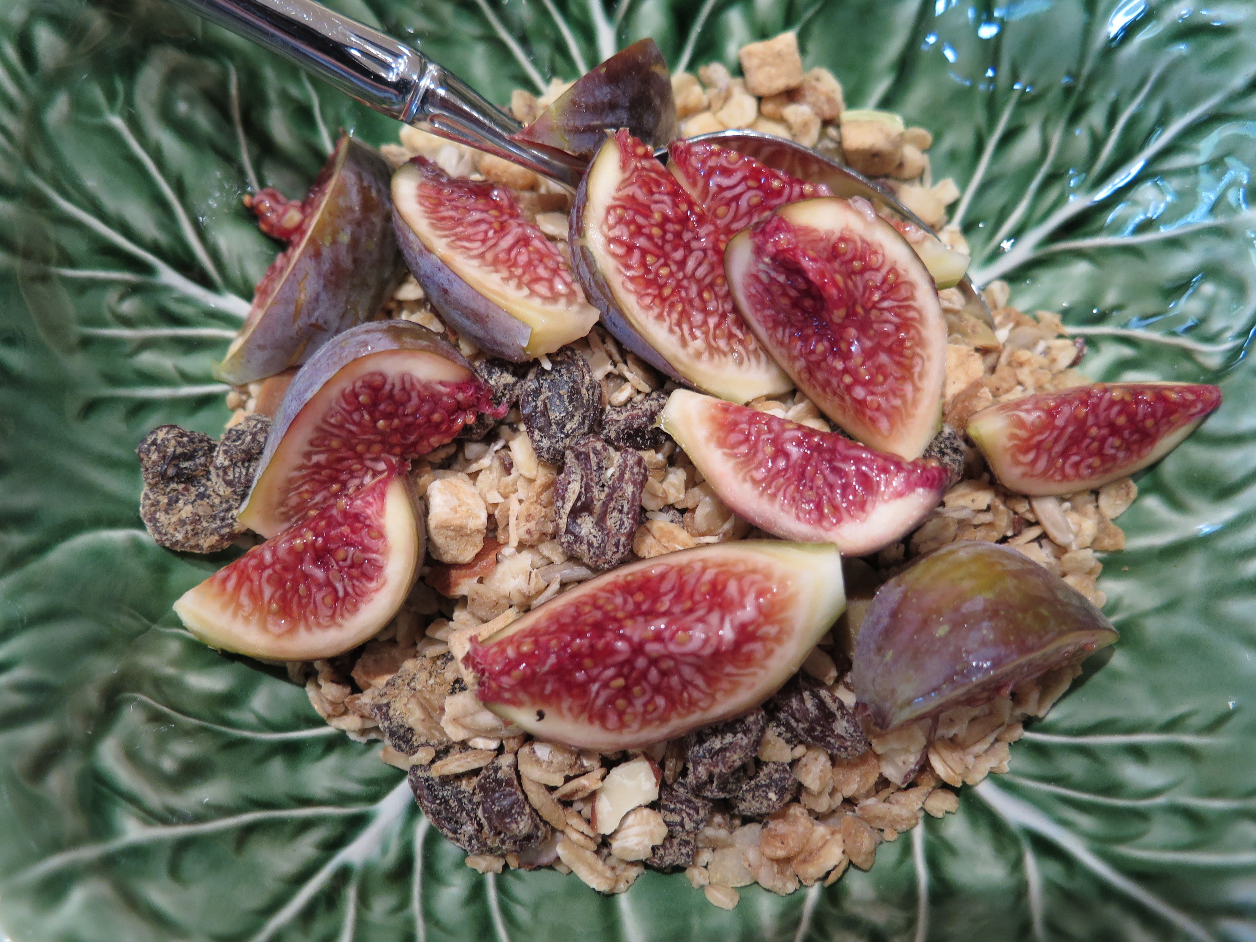 Breakfast in the Napa Valley: Celeste figs and homemade granola.