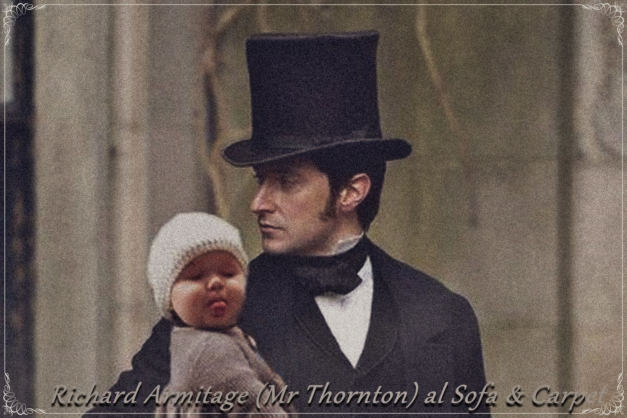 MR THORNTON WITH HIS BABY  RICHARD ARMITAGE FAN ART