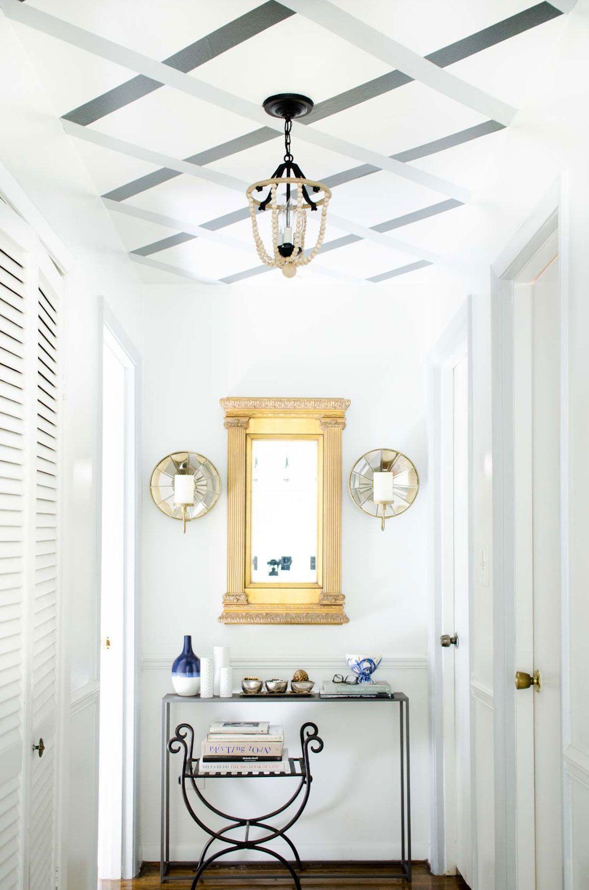 DIY Striped Lattice Ceiling Pattern Striped ceiling