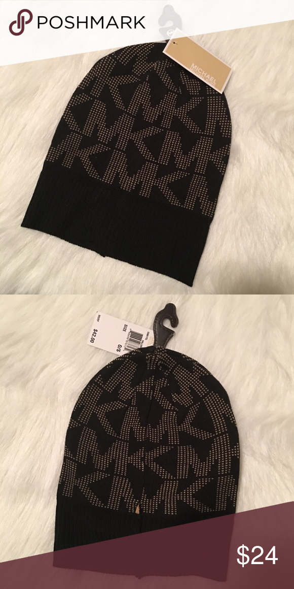 bebad33329d8a Michael Kors Hat Michael Kors Hat (beanie) MK Black and Tan new with tags. Michael  Kors Accessories Hats